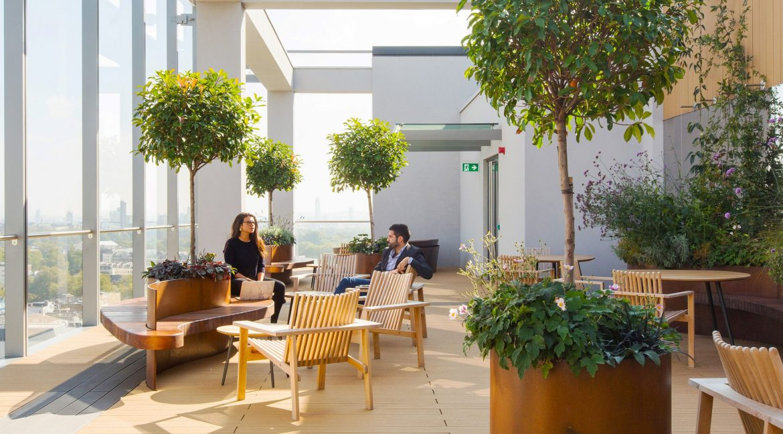 20 Eastbourne Terrace Roof terrace